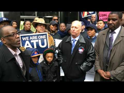 ATU 1179 & 1181 Workers Rally to Call on MTA  to Work Out Contract 2017-02-22 #2