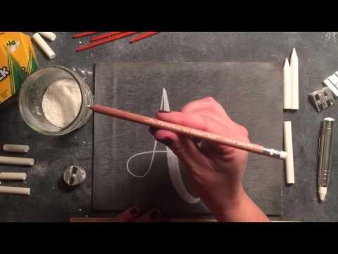 SheShe Design Chalk Script Lettering UPPERCASE A