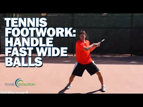 TENNIS FOOTWORK TIPS | Tennis Footwork For Fast, Wide Balls After The Serve
