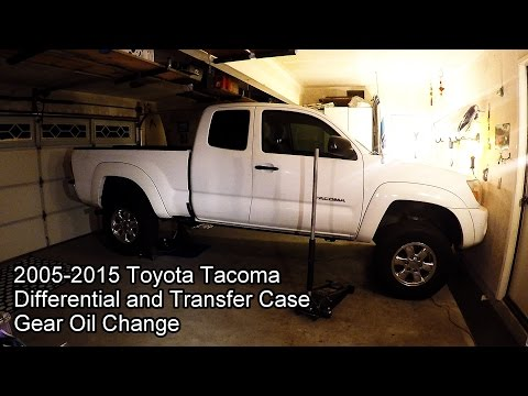 2005-2015 Toyota Tacoma 4x4 Differential and Transfer Case Oil Change