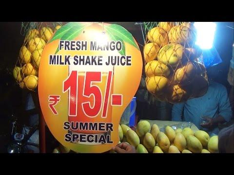 Mango Milk Shake | Mango Juice | Summer Drinks in India | Street Food Videos - Hyderabad