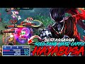NO MAGE ASSASSIN MID HAYABUSA SOLO CARRY WITH 51 HERO DAMAGE MOBILE LEGENDS