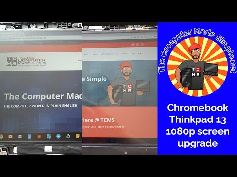 Thinkpad 13 Chromebook 1080p IPS screen upgrade
