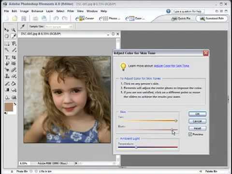 Adobe Photoshop Elements 4 Skin Tone Adjustment54
