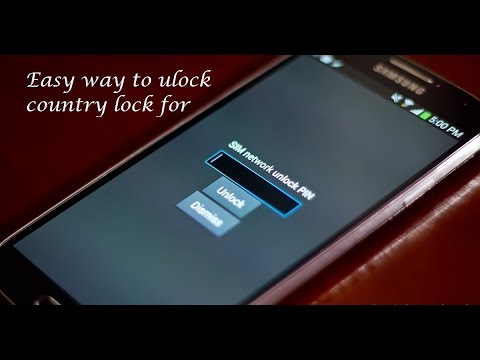 How to unlock any android Country Network 2017