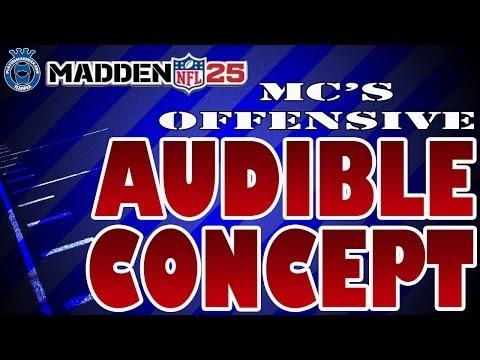 Madden 25 | MC's Audible Concept [Gun Normal, Gun Wing TE, Gun Y-Flex Tight]