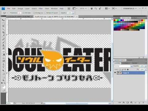 Photoshop CS4 Tutorial - How To Put A Logo on Your Picture and how to save it.