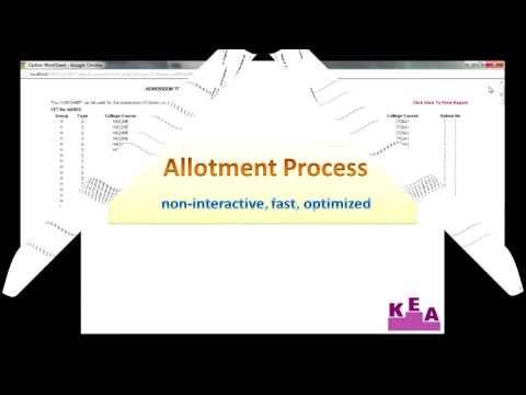CET-2013 Allotment Process Presentation
