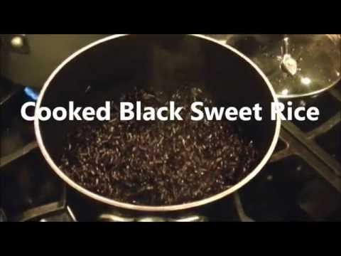 Black Sweet Rice: Cooking Rice On A Stove