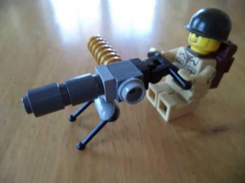 How to make LEGO WW2 stuff ( mortar, radio backpack, M1917A1 Machine Gun)