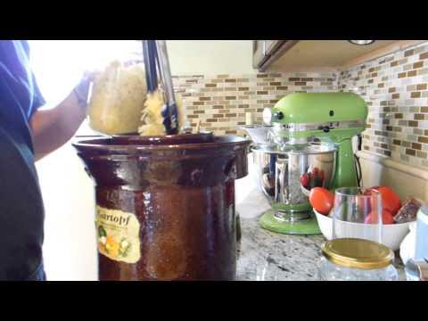 Fermenting Cabbage / Sauerkraut in a Harsch Crock Pot - Part 2