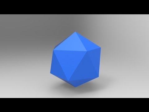 How to make a icosahedron in SolidWorks