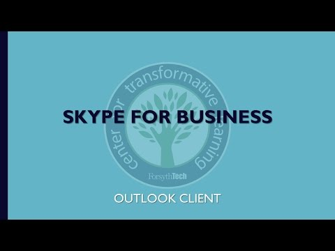 Skype for Business- Outlook Client