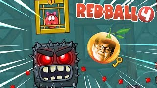 FINAL BOSS!!! Red Ball 4 INTO THE CAVES!! Part 2