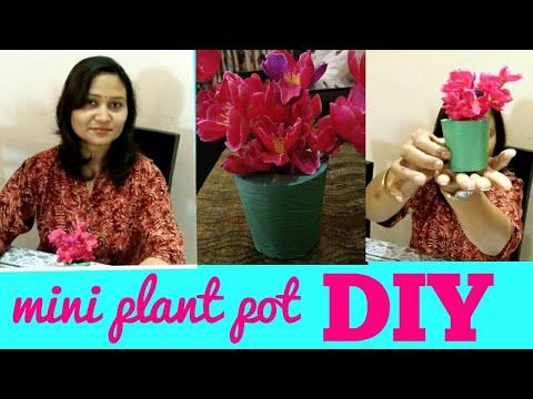 DIY,mini plant pot,artificial p.o.p.plant pot,anvesha,s creativity