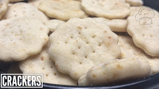 Crackers las Galletas saladas de 3 ingr.en solo 20 minutos