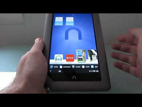 Rooted NOOK Tablet running the Google Android Market