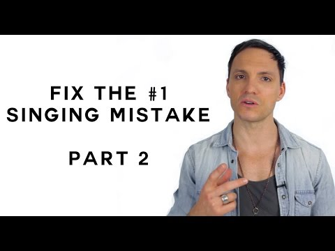 How to Fix the #1 Singing Mistake - Part 2