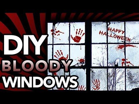 DIY Bloody windows | Halloween DIY