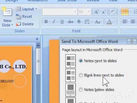 How to create PowerPoint handouts in Microsoft Word