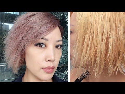 My overprocessed, bleached hair