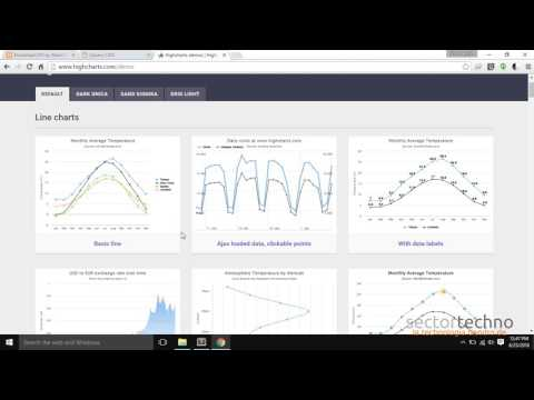 How to create charts on UI? Highcharts js for data visualization