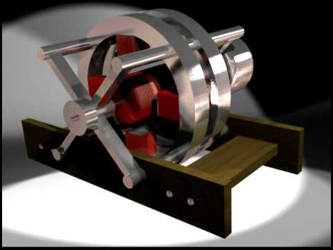 3D AC Induction Motor Assembly