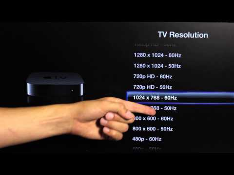 How to Change Apple TV Resolution Settings : Apple TV & Accessories
