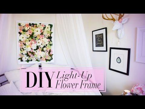 DIY Light-Up Flower Frame Room Decoration | ANN LE