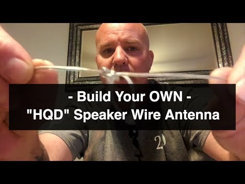 How to make a Ham Radio Speaker Wire Antenna
