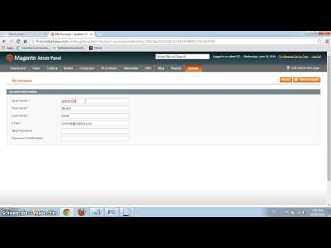 How to change Username and Password in Magento
