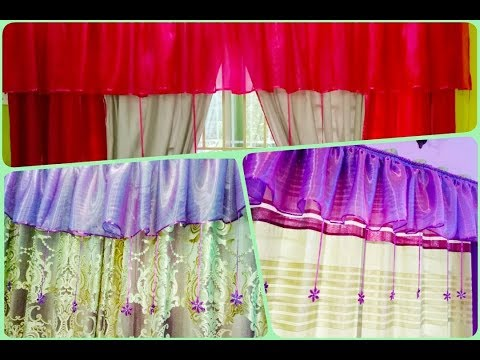How to make swags and tail curtains (DIY) easy and different swags|Bangla|