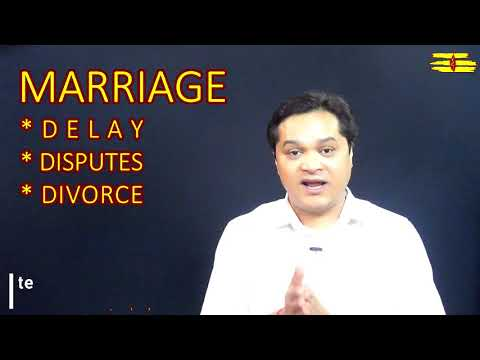 Marriage problems#Delay#Disputes#Divorce#Late Marriage#Simple tips for Married life