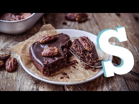How To Make  A Chocolate Sheet Cake Recipe - Homemade by SORTED