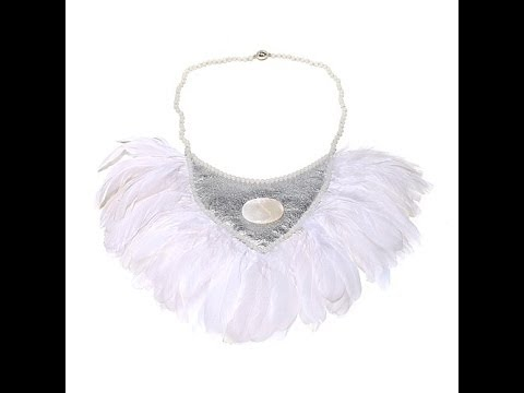 Ranjana's Leather and Feather Necklace