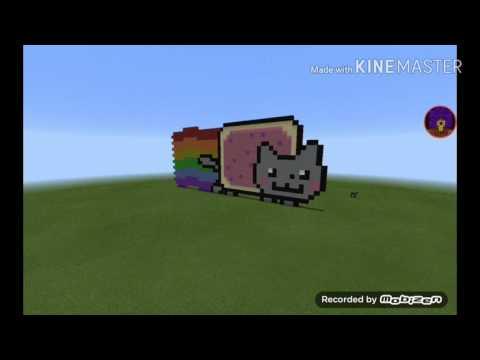 Nyan Cat in Minecraft PE!|Minecraft PE