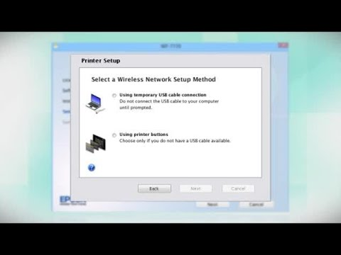 Epson WorkForce WF-7110 | Wireless Setup Using the Printer's Buttons