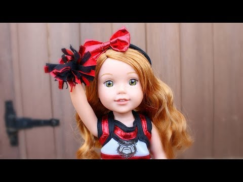 American Girl Doll Cheer Uniforms & Pompoms