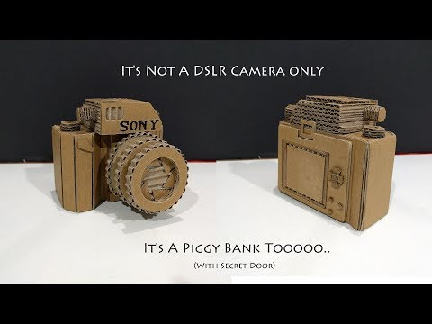 How to Make a DSLR Camera Piggy Bank Safe From cardboard With Secret Lock | Sony Camera