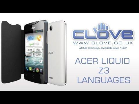 Acer Liqud Z3 Languages