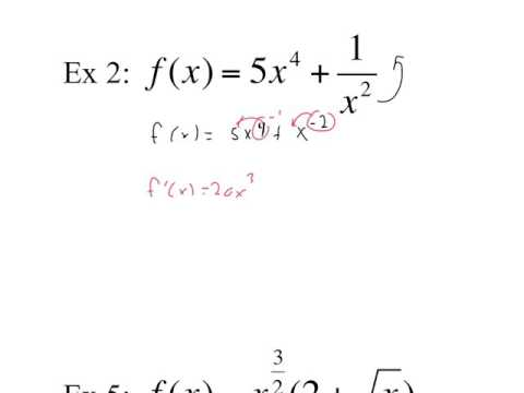 crash course derivatives of polynomial and power functions