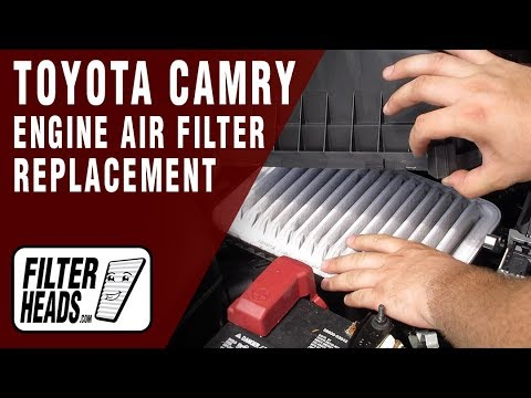 How to Replace Engine Air Filter 2017 Toyota Camry L4 2.4L