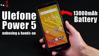 Ulefone Power 5 Hands-on Preview: 5x Battery of iPhone X!