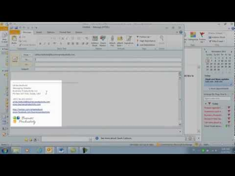 How to add an email signature using Microsoft Outlook 2010