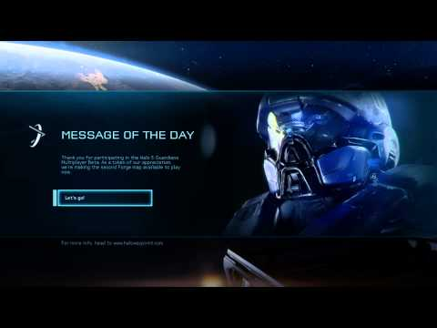Halo 5: Guardians Multiplayer Arena Beta - Message of The Day 1/15/2015