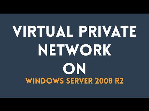 Setup & Configure VPN in Windows Server 2008 R2