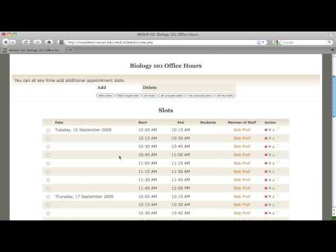 How to use Moodle's Scheduler for Office Hours Sign-up
