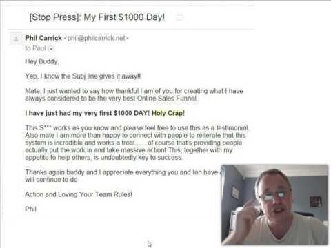 Testimonial For Paul Lynch   My First $1000 Day
