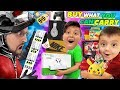 ILL BUY WHAT YOU CAN CARRY CHALLENGE Ant Man Style FV Family Shrinking Shopping Challenge