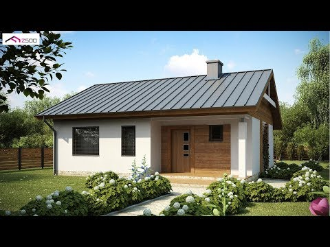 70 Square Meter Small and Simple House Design With Floor Plan
